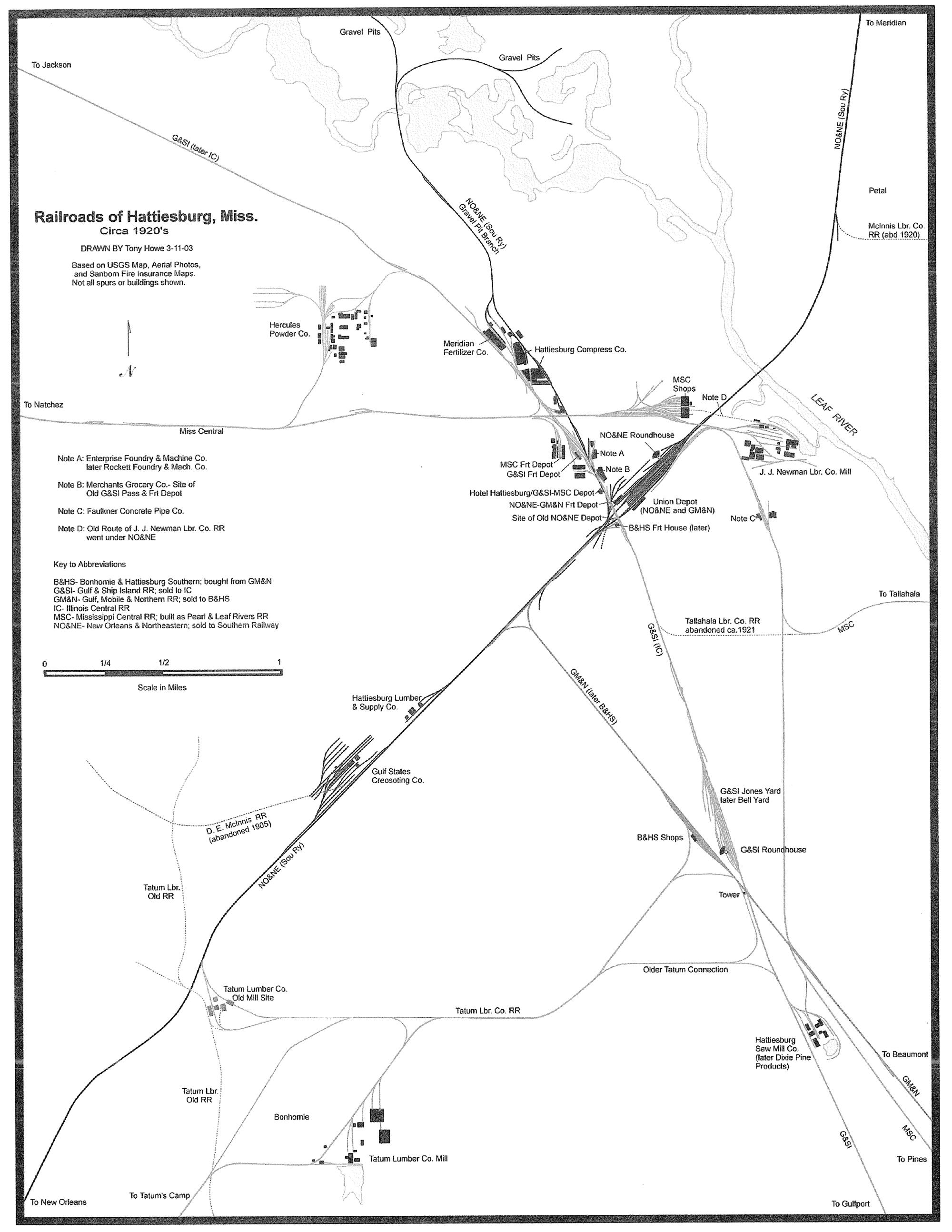 HawkinsRails - Bonhomie & Hattiesburgh Southern
